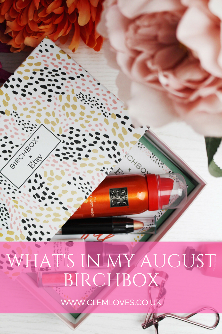 Clem Loves August Birchbox Pinterest